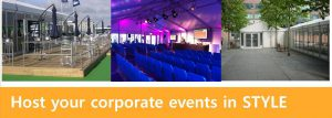 structures and marquees for corporate events