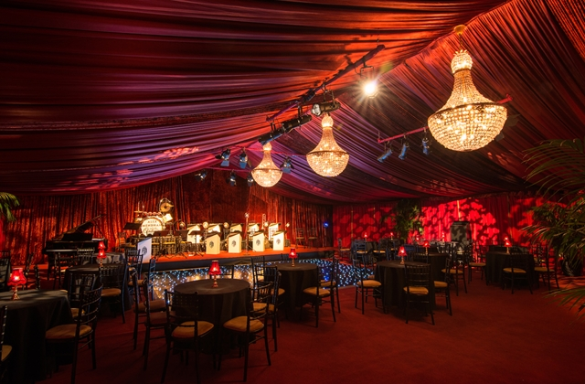 Temporary event structures interiors