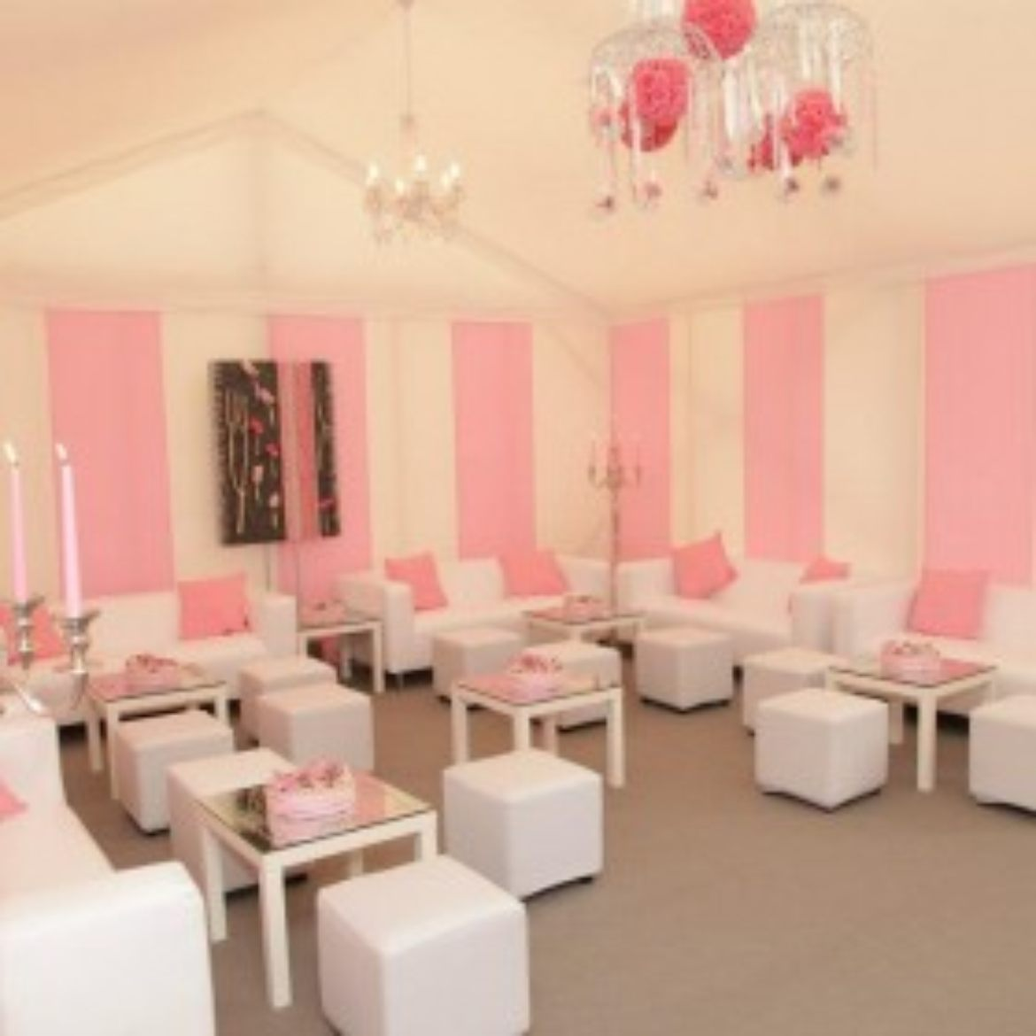 Baby Shower - Pink and White