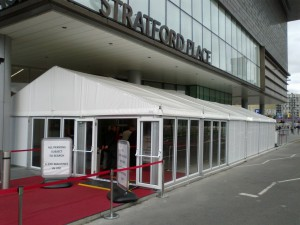 security tent marquee walkway