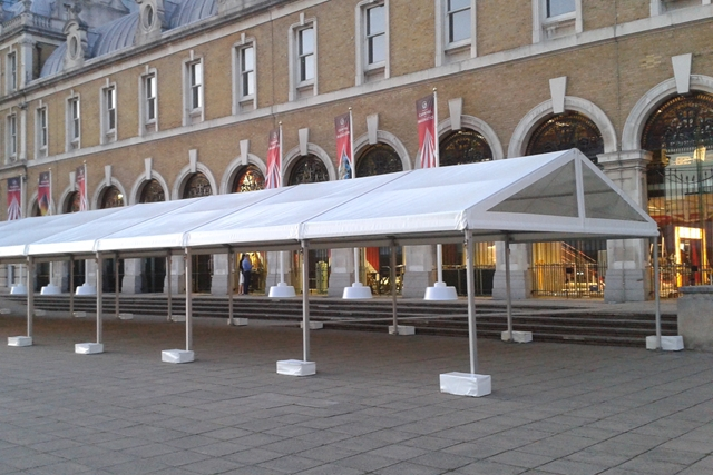 Covered walkways and awnings for events
